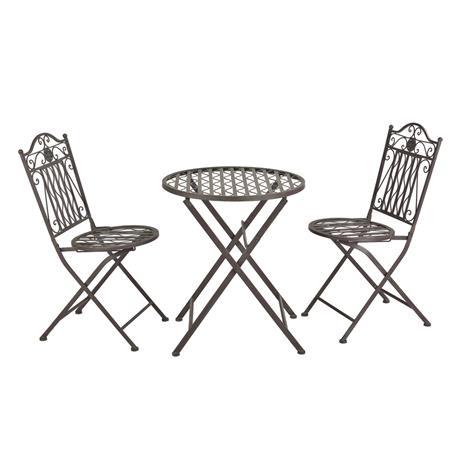 [casa.pro]® Ulkokalustesetti - pyöreä pöytä + 2 tuolia, vihreä