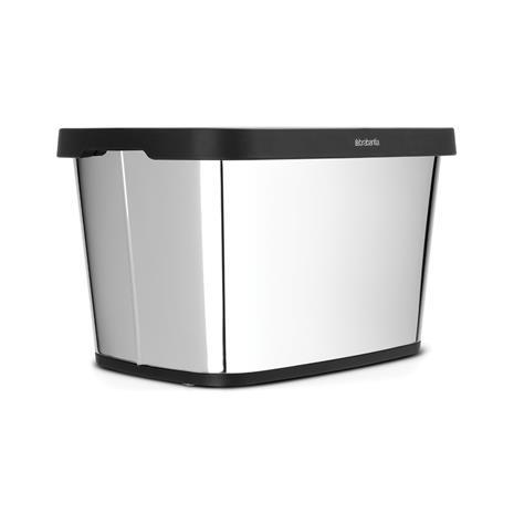 Lehti & Paperinkerääjä 10 L Kiiltäväksi harjattua terästä, Storage