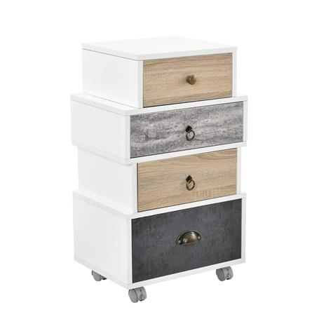 [en.casa]® Design kaappi - lipasto 4 laatikolla