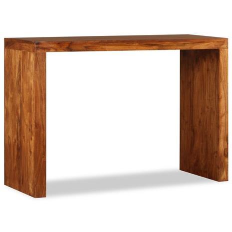 vidaXL Sivupöytä Kiinteä puu seesamviimeistelyllä 110x40x76 cm