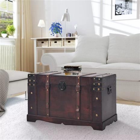vidaXL Vintage Aarrearkku Puu 66x38x40 cm