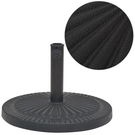 vidaXL Aurinkovarjon Alusta Hartsi Pyöreä Musta 29 kg