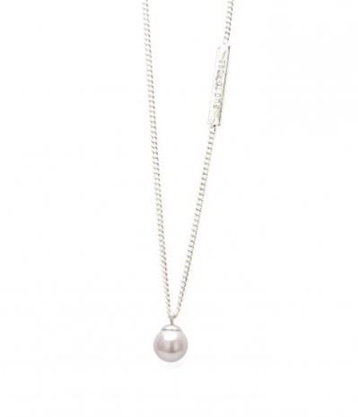 Bud to Rose Halsband Pearl silver 42 cm