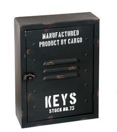Nyckelskåp Industri svart metall 30x23cm
