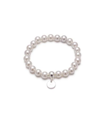 Bud to Rose Armband Pearl vitt/silver
