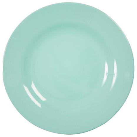 Rice, Melamine Round Side Plate Dark Mint