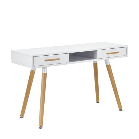 [en.casa]® Design kirjoituspöytä - valkoinen