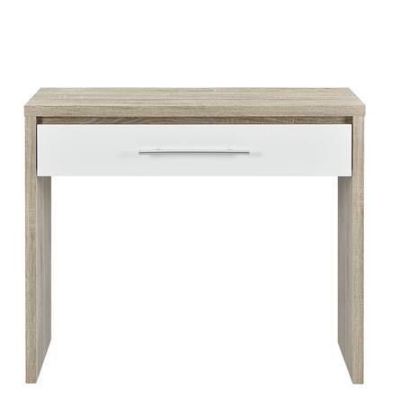 [en.casa]® Elegantti kirjoituspöytä laatikolla - valkoinen