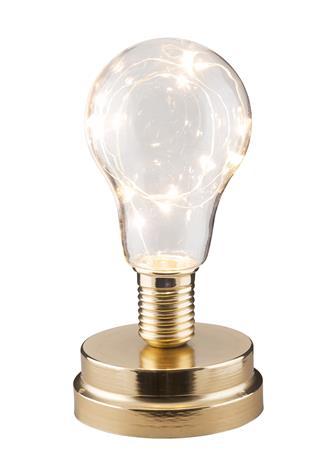 Lykta med LED-slinga Mässing 18 cm, Kalusteet ja sisustus
