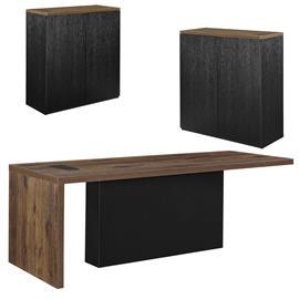 [neu.haus]® Design toimistopöytä kahden kaapin kanssa