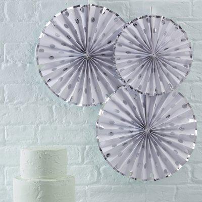 Pin Wheels Silver Dots