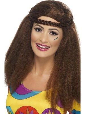 60-luvun Hippy Chick Afro Peruukki