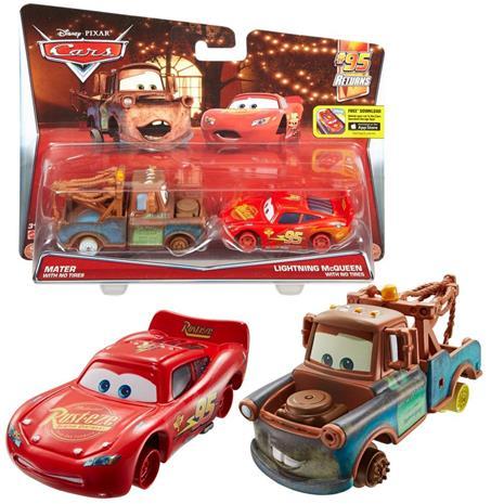 Disney Pixar Cars - Blixten Mcqueen & Bärgarn utan hjul - 2 pack
