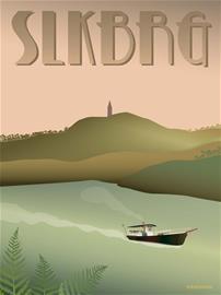 Vissevasse - Silkeborg Hjejlen Poster 30 x 40 cm