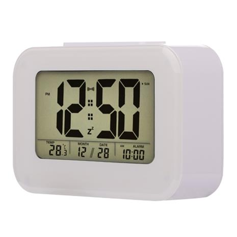 Herätyskello Smart Light LCD-näyttö Valkoinen, Kellot ja sääasemat