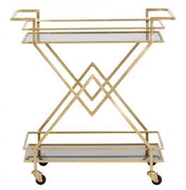 Trolley Golden Black glass, Huonekalut