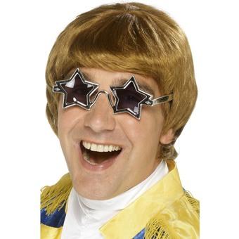 1970-tals Star Man Peruukit ja lasit