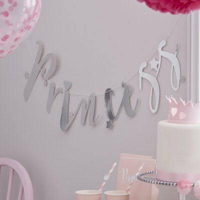 Backdrop - Princess Silver Glitter