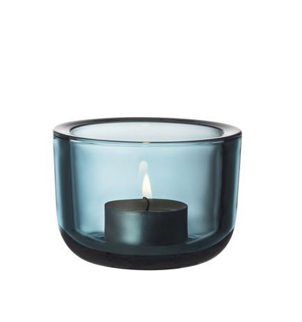 Iittala Valkea kynttilälyhty 60mm merensininen