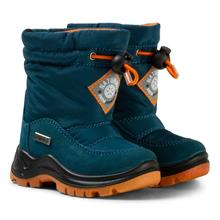 Blue and Orange Varna Waterproof Suede and Nylon Boots21 (UK 4.5)