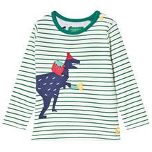 Green Baby Jack Stripe Dinosaur Applique Long Sleeve Tee18-24 months