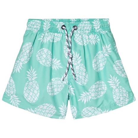 Light Green Mint Pineapple Pool Boardie Shorts8 years