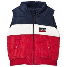 Navy Colour Block Puffer Logo Gilet10 years
