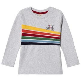 Grey Rainbow Bike Trail LS Tee2-3 years