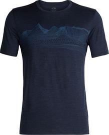 Icebreaker Tech Lite Pyrenees Miehet Lyhythihainen paita , sininen