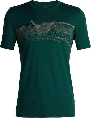 Icebreaker Tech Lite Pyrenees Miehet Lyhythihainen paita , vihreä