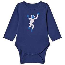 Baby Body LS Monkey Baby Blue3M (56/62)