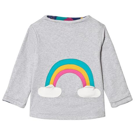 Grey Rainbow Cloud LS Tee2-3 years