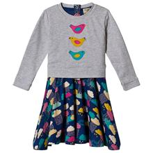 Grey and Navy Multi Patterned Bottom Dress3-4 years