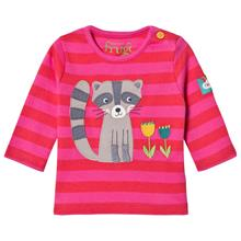 Red and Pink Racoon LS Tee3-6 months