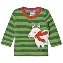 Green Striped Goat LS Tee3-6 months