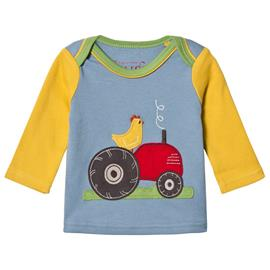Blue and Yellow Tractor LS Tee0-3 months