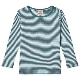 Blue and White Stripe LS Tee2-3 years