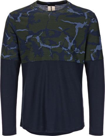 super.natural Camo Miehet Pitkähihainen paita , sininen/oliivi