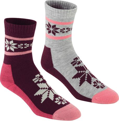 Kari Traa Rusa Naiset sukat 2 Pairs , harmaa/punainen