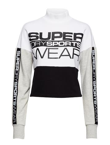 Superdry Sport Street Sports Crop Crew SPORT WHITE/SPORT BLACK
