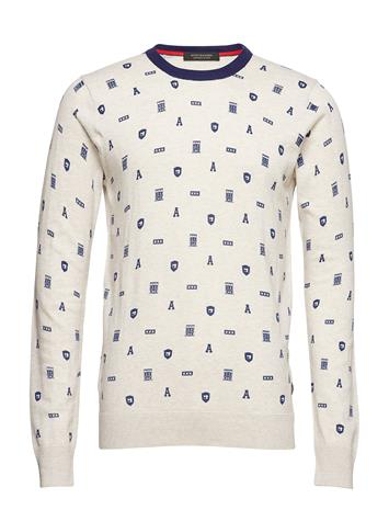 Scotch & Soda Cotton Melange Crewneck Pullover With All-Over Print COMBO D