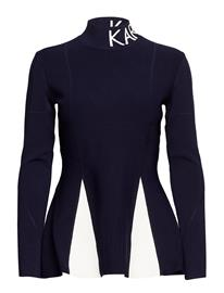 Karl Lagerfeld Karl Lagerfeld-Contrast Stitching Sweater PEACOAT