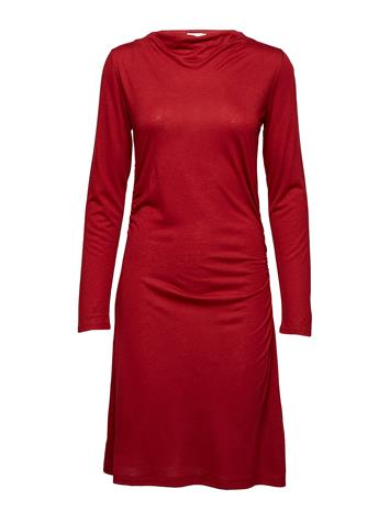 Filippa K Tencel Wool Dress DEEP RED