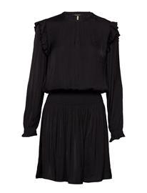 Scotch & Soda Drapey Dress With Smock Details BLACK