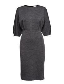 Filippa K Volume Sleeve Wool Dress DK. GREY M