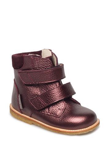 ANGULUS Boots - Flat - With Velcro 1536/2195 BORDEAUX SHINE/B