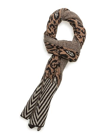 Scotch & Soda Knitted Scarf In Animal & Geo Pattern COMBO A