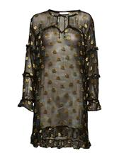 Coster Copenhagen Dress In Camouflage Print W. Ruffle CAMOUFLAGE