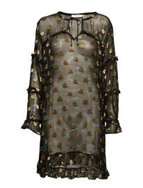 Coster Copenhagen Dress In Camouflage Print W. Ruffle CAMOUFLAGE