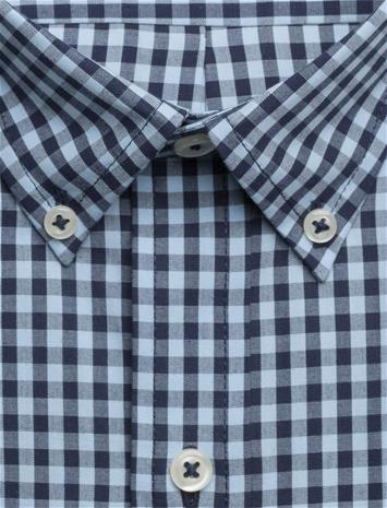 IZOD Gingham Check Shirt CHAMBRAY BLUE